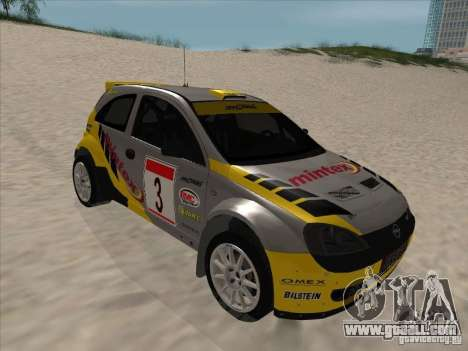 Opel Rally Car for GTA San Andreas