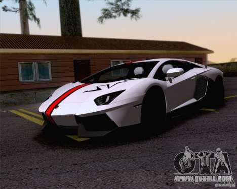 Paint work Lamborghini Aventador LP700-4 for GTA San Andreas