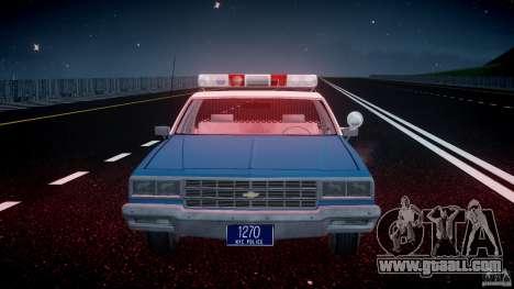 Chevrolet Impala Police 1983 v2.0 for GTA 4 bottom view
