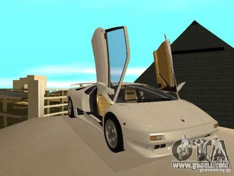 Lamborghini Diablo VT 1995 V2.0 for GTA San Andreas inner view