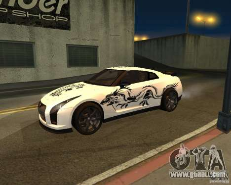 Nissan GT-R Pronto for GTA San Andreas back view