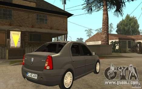 Dacia Logan Prestige 1.6 16v for GTA San Andreas right view