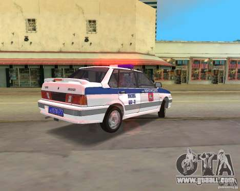 VAZ 2115 DPS for GTA Vice City left view