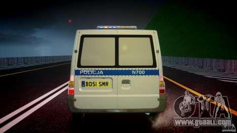Ford Transit Polish Police [ELS] for GTA 4 bottom view