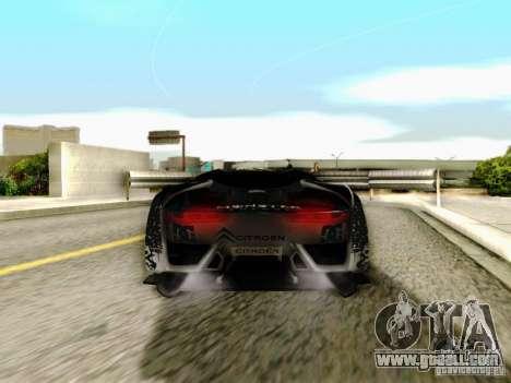 Citroen GT Gymkhana for GTA San Andreas inner view