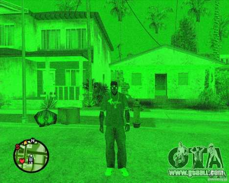 Night vision device Splinter Cell Goggles for GTA San Andreas second screenshot