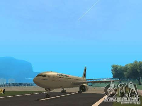 Airbus A300-600 Air France for GTA San Andreas left view