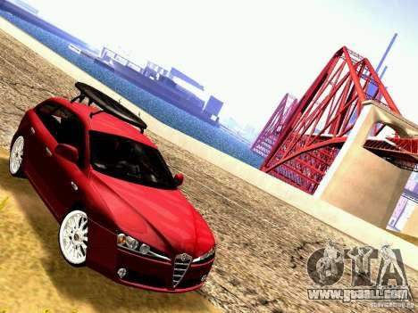 Alfa Romeo 159 Sportwagon for GTA San Andreas back left view