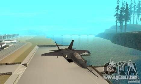 YF-22 Black for GTA San Andreas inner view