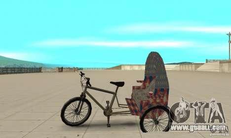 Manual Rickshaw v2 Skin5 for GTA San Andreas left view