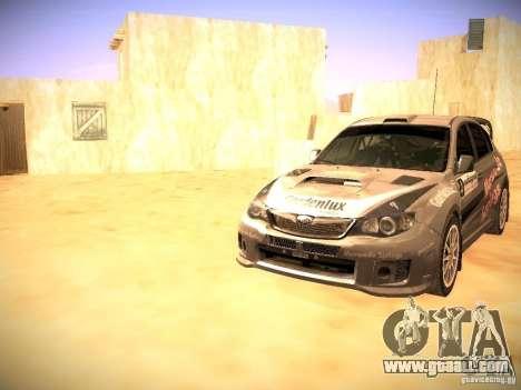 Subaru impreza Tarmac Rally for GTA San Andreas interior