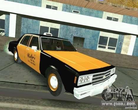 Chevrolet Impala 1986 Taxi Cab for GTA San Andreas