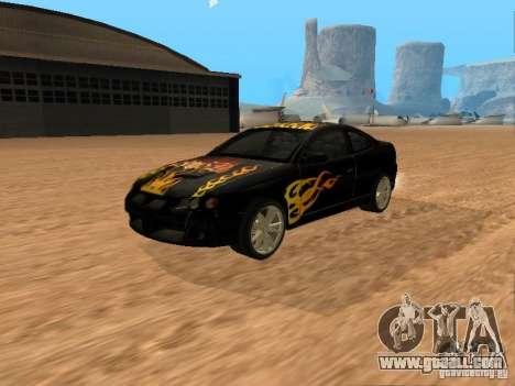 Vauxhall Monaro for GTA San Andreas inner view