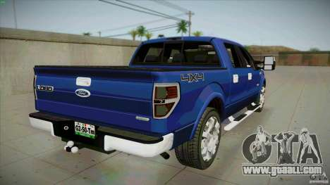 Ford Lobo Lariat Ecoboost 2013 for GTA San Andreas back left view