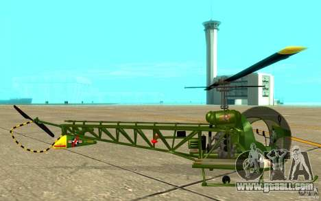 Bell H13 for GTA San Andreas back left view