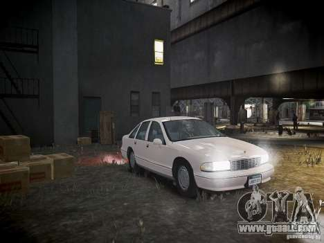 Chevrolet Caprice 1993 Rims 1 for GTA 4 side view