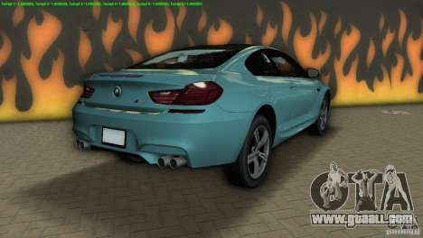 BMW M6 2013 for GTA Vice City back left view