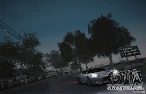 Spyker C8 Aileron for GTA San Andreas inner view