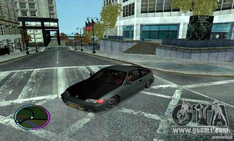 Honda CRX Tuned for GTA San Andreas back view