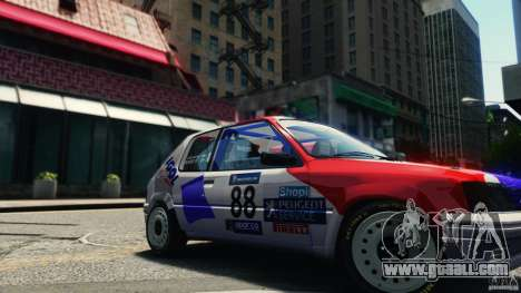 Peugeot 205 Rally for GTA 4 right view