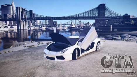 Lamborghini Aventador LP700-4 v1.0 for GTA 4 back view