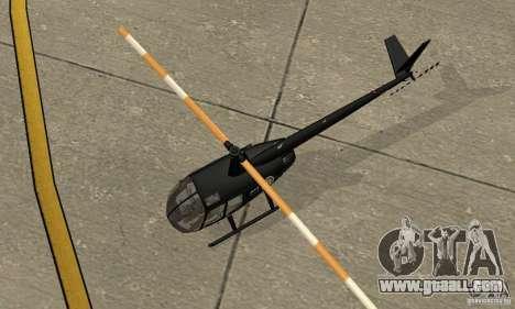Robinson R44 Raven II NC 1.0 Black for GTA San Andreas back view