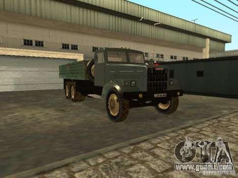 KrAZ truck flatbed v. 2 for GTA San Andreas back view