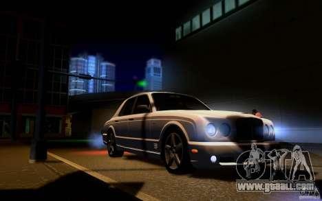 Bentley Arnage for GTA San Andreas interior