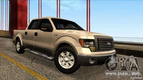 Ford F150 XLT SuperCrew 2010 for GTA San Andreas right view