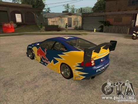 Pontiac GTO Red Bull for GTA San Andreas back left view