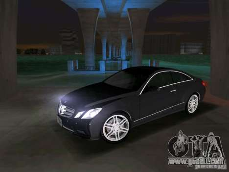 Mercedes-Benz E Class Coupe C207 for GTA Vice City back view