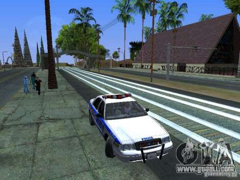 Ford Crown Victoria 2009 New York Police for GTA San Andreas side view