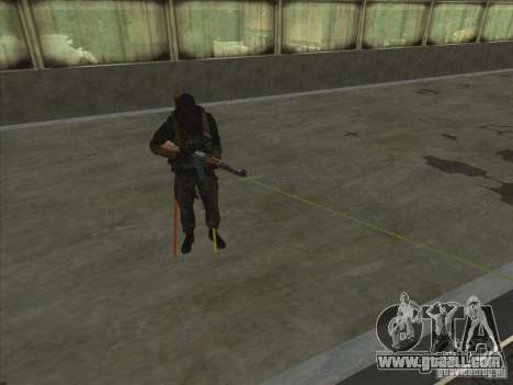 Weapon with laser for GTA San Andreas forth screenshot