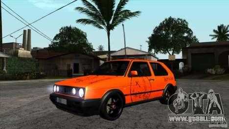 VW Golf 2 for GTA San Andreas inner view