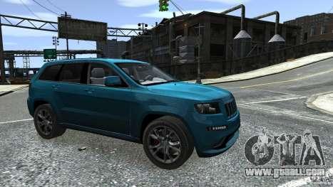 Jeep Grand Cherokee STR8 2012 for GTA 4 upper view