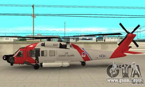 HH-60 Jayhawk USCG for GTA San Andreas back left view