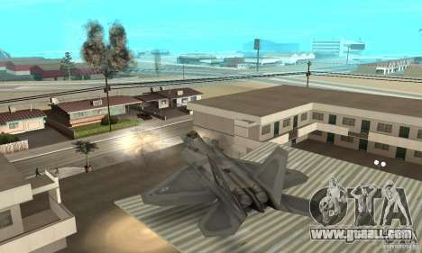 F-22 Grey for GTA San Andreas upper view