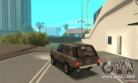 Range Rover County Classic 1990 for GTA San Andreas interior