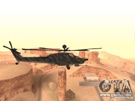 MI 28 Havok for GTA San Andreas back left view