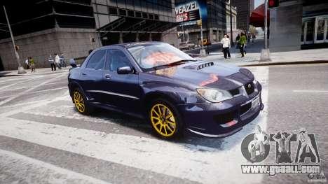 Subaru Impreza STI Wide Body for GTA 4 interior