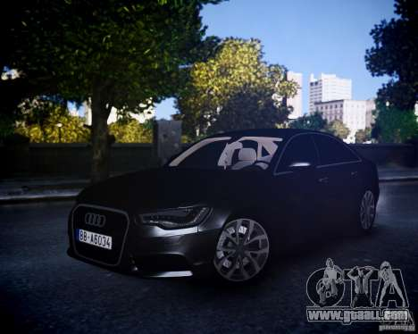 Audi A6 2012 for GTA 4 left view