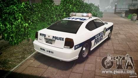 FIB Buffalo NYPD Police for GTA 4 back left view