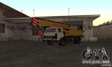 MAZ Truck Crane for GTA San Andreas