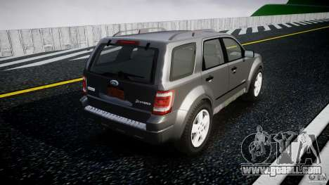 Ford Escape 2011 Hybrid Civilian Version v1.0 for GTA 4 upper view