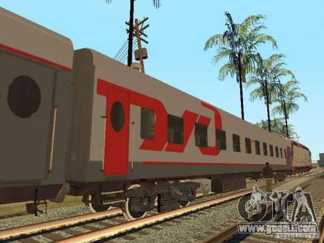 Passenger car RZD v2.0 for GTA San Andreas