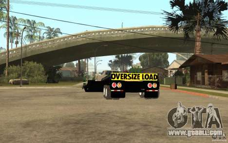 Trailer lowboy transport for GTA San Andreas back left view