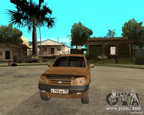 CHEVROLET NIVA Version 2.0 for GTA San Andreas back view