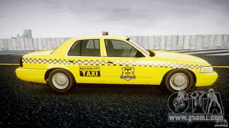 Ford Crown Victoria Raccoon City Taxi for GTA 4 back view
