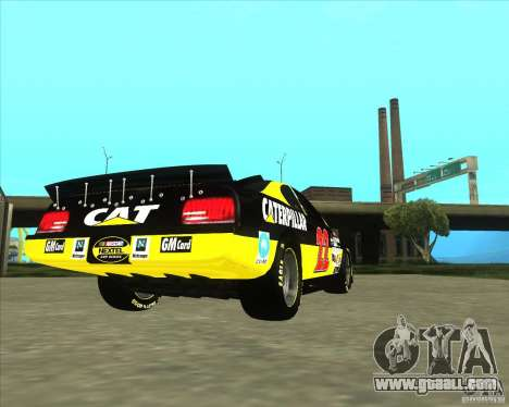 Dodge Nascar Caterpillar for GTA San Andreas back left view