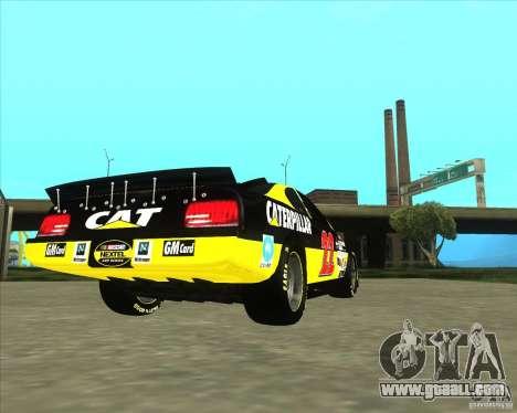 Dodge Nascar Caterpillar for GTA San Andreas back left view